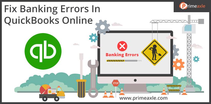 banking error in quickbooks online