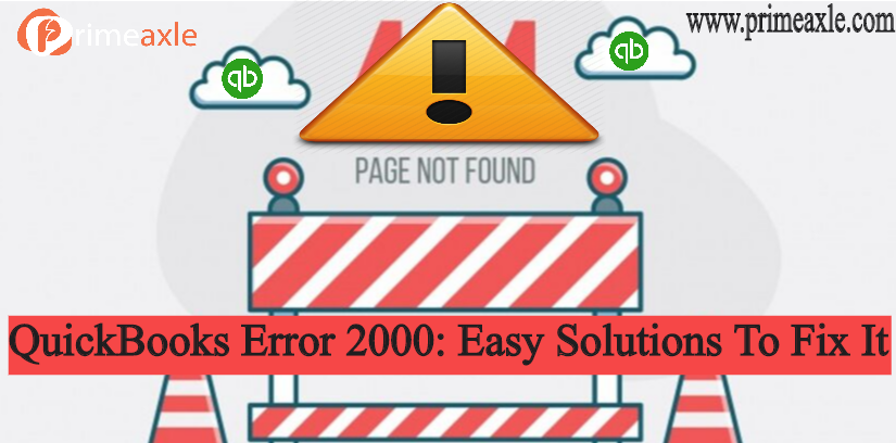 quickbooks error 2000